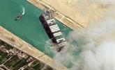 Accord pour relâcher le navire ayant bloqué le canal de Suez