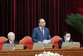 Première journée de travail du 3e plénum du Comité central du Parti
