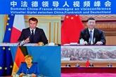 Visioconférence entre Macron, Merkel et Xi