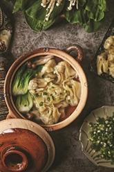 Soupe au ravioli chinois