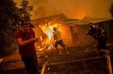 Grèce : accalmie sur le front des incendies d'Eubée, inquiétude dans le Péloponnèse