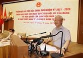 Le secrétaire général du Parti donne un horizon au gouvernement
