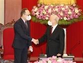 Le secrétaire général du Parti communiste du Vietnam reçoit l'ambassadeur russe