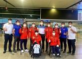 Les sportifs vietnamiens partent pour les Jeux paralympiques de Tokyo