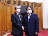 Le Premier ministre vietnamien reçoit l'ambassadeur chinois