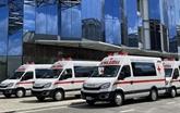 THACO fait don d'ambulances et de camions de vaccination mobiles à HCM-Ville