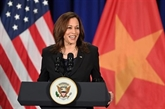 Conférence de presse de la vice-présidente américaine au Vietnam