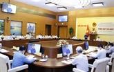 Le président de l'AN à une réunion sur l'édification de l'État de droit socialiste du Vietnam