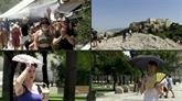 À Athènes, les touristes refoulés de l'Acropole pour cause de canicule exceptionnelle