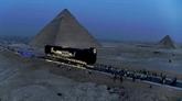 Égypte : la barque solaire de Khéops transportée au Grand musée
