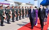 Le président Nguyên Xuân Phuc arrive à Vientiane