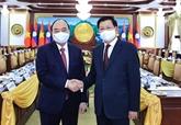 Le président vietnamien s'entretient avec son homologue lao