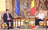 Entretien entre le président de l'AN et la présidente de la Chambre des représentants de Belgique