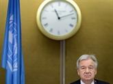 Le chef de l'ONU appelle à réagir sur le climat et le COVID