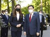 Le président de l'AN Vuong Dinh Huê termine son voyage de travail à l'étranger