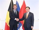 La visite du président de l'AN Vuong Dinh Huê promeut les relations UE - Vietnam