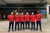L'équipe du Vietnam en route pour participer à la Coupe Davis 2021