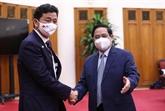 Le Premier ministre Pham Minh Chinh reçoit le ministre japonais de la Défense