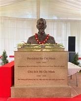 Cérémonie de pose d'un buste du Président Hô Chi Minh à New Delhi