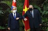 Entrevue entre le président vietnamien et le Premier ministre cubain