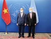 Le président vietnamien rencontre de hauts dirigeants de l'ONU