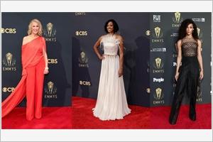 Trois actrices habillées par Công Tri lors des Emmy Awards 2021