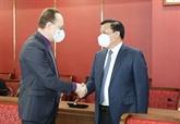 Le secrétaire du Comité du Parti de Hanoï reçoit l'ambassadeur de Russie