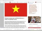 Le rôle du Vietnam dans la coopération multilatérale loué par les médias tchèques