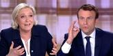 Macron devance Le Pen au premier tour, selon un sondage