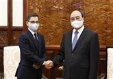 Le président vietnamien reçoit l'ambassadeur d'Inde