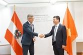 Vietnam et Autriche discutent de leur coopération dans le domaine de l'énergie