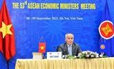 ASEAN : les ministres de l'Économie adoptent la feuille de route de Bandar Seri Bagawan