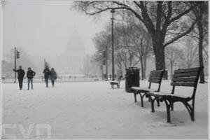 Tempête de neige sur Washington DC