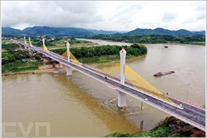 Tuyên Quang  inauguration du pont Tinh Huc enjambant la rivière Lô