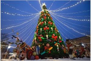 Décoration de Noël à Saint-Pétersbourg