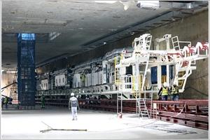 Métro à Hanoï  achèvement de linstallation du premier tunnelier