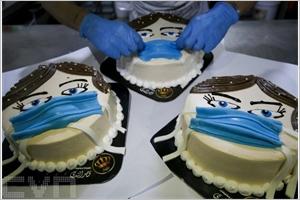Gâteau promouvant le port du masque