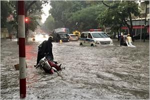 Des pluies torrentielles à Hanoï