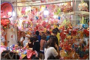 Les rues des lanternes à Hô Chi Minh-Ville
