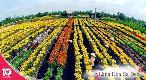 La beauté des villages floraux à lapproche du Têt