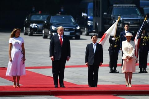 Japon Trump premier hôte du nouvel empereur dans le vif du sujet