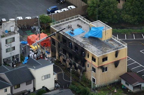 Lincendie criminel dun studio danimation au Japon fait 33 morts