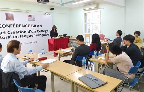 Université de Hanoï  succès du projet du collège doctoral en langue française