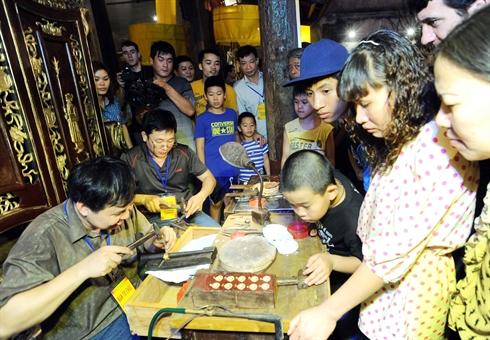 la bijouterie traditionnelle à Hanoi.