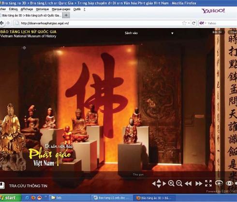 2a28699cbb23f1 L espace d exposition des patrimoines culturels du bouddhisme vietnamien  est présenté de façon détaillée au musée virtuel interactif 3D.