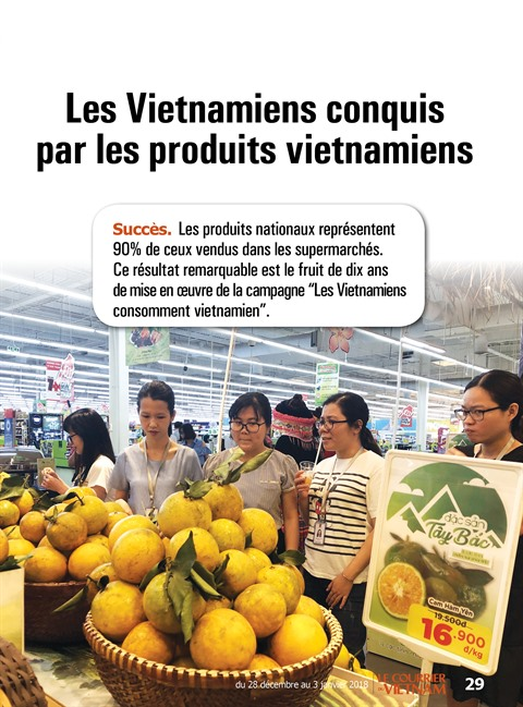 Les Vietnamiens conquis par les produits vietnamiens