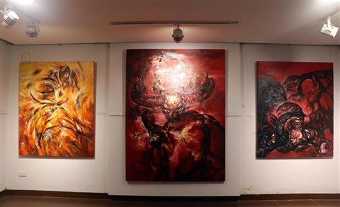 exposition, buffle, signe, zodiaque, Dà Nang