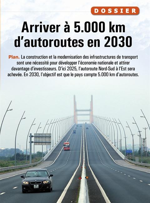 Arriver à 5.000 km d'autoroutes en 2030