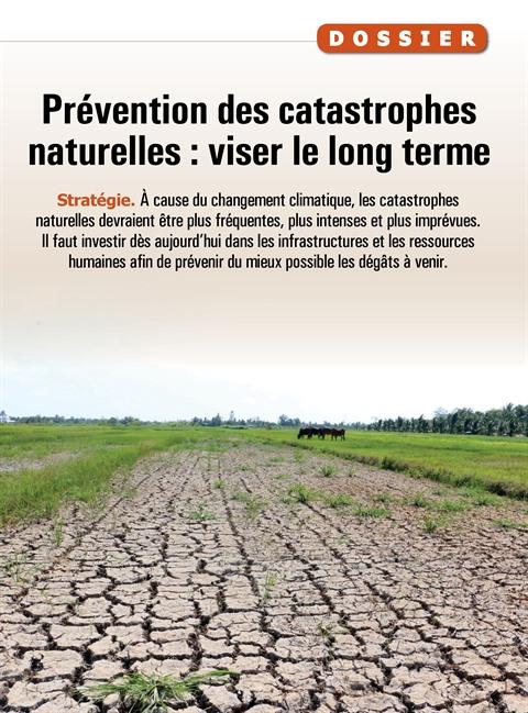 Prévention des catastrophes naturelles : viser le long terme
