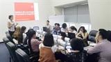 Seize journalistes francophones à l'atelier de formation au reportage